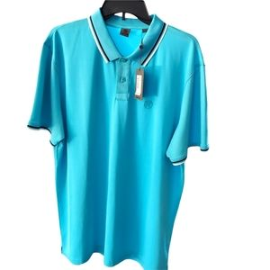 G/FORE Mens XXL Turquoise Short Sleeve Golf Polf NWTS.